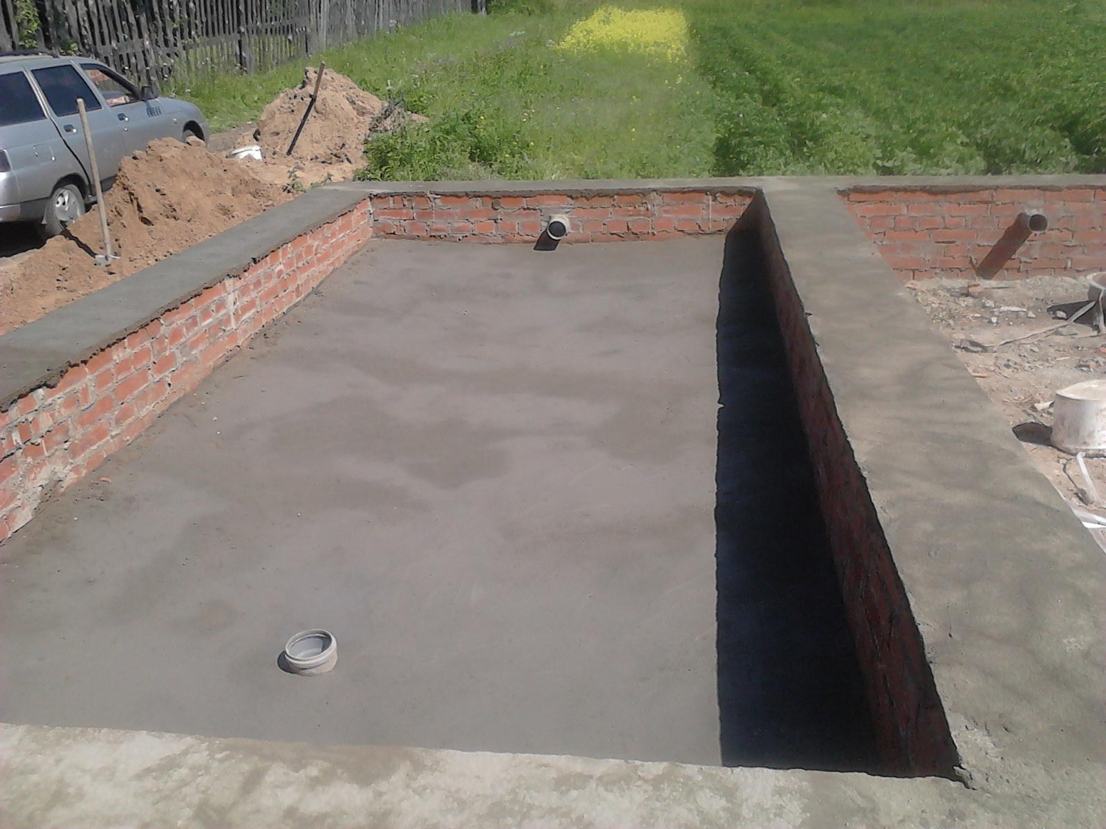 Фундамент и коммуникации - канализация и водопровод 59